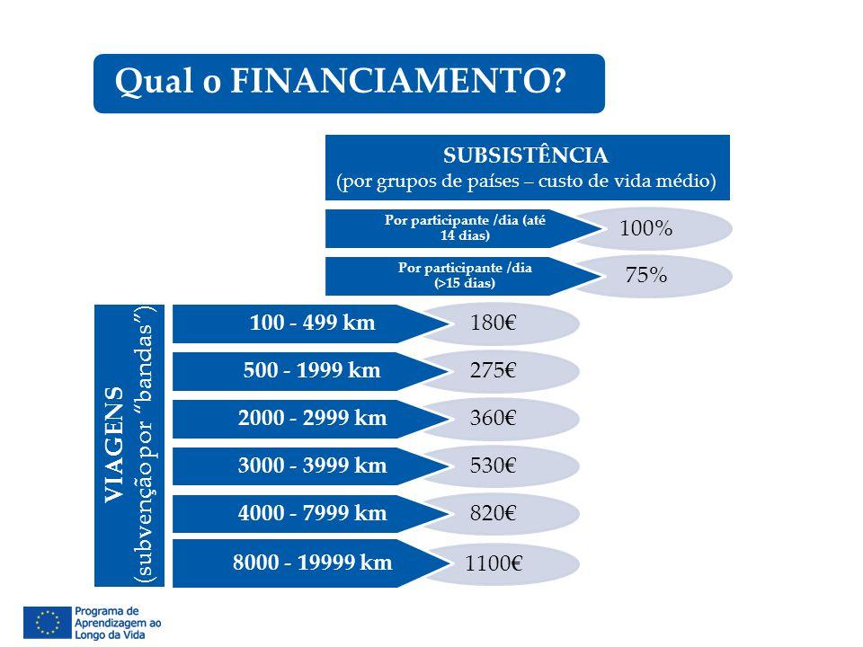 """1100€ 820€ 530€ 360€ 275€ 180€ 100 - 499 km VIAGENS (subvenção por """"bandas"""") 500 - 1999 km 2000 - 2999 km 3000 - 3999 km 4000 - 7999 km 8000 - 19999 k"""