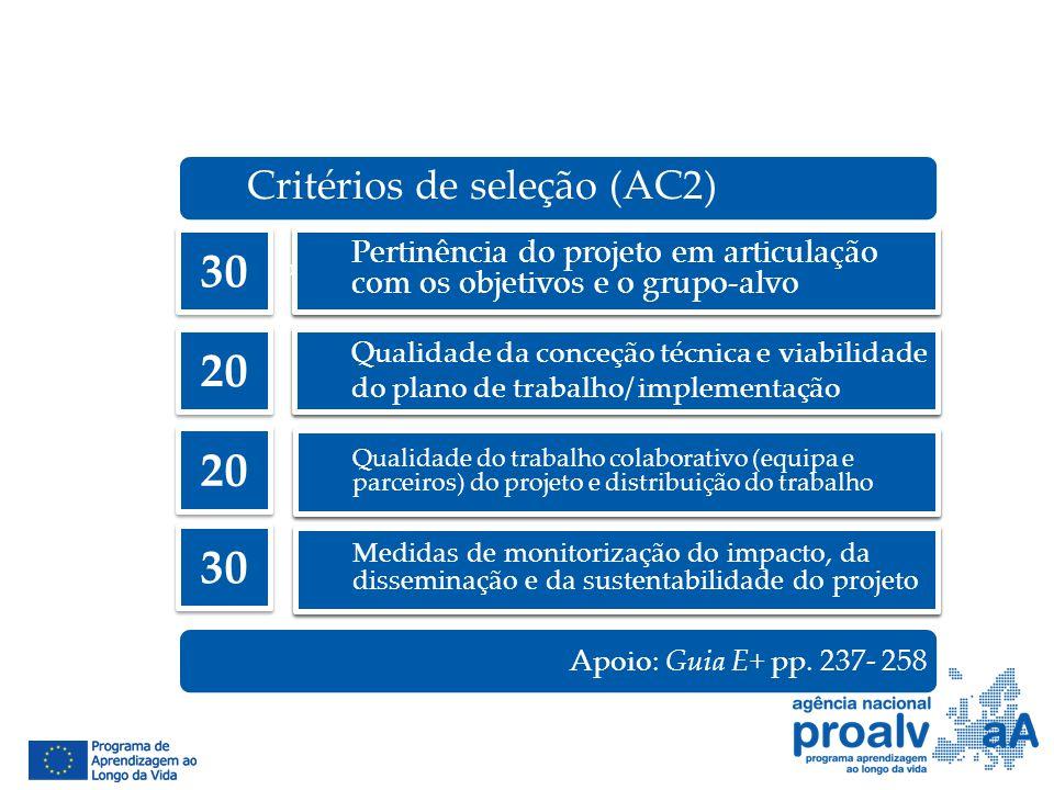 Pertinência do projeto em articulação com os objetivos e o grupo-alvo Qualidade da conceção técnica e viabilidade do plano de trabalho/ implementação