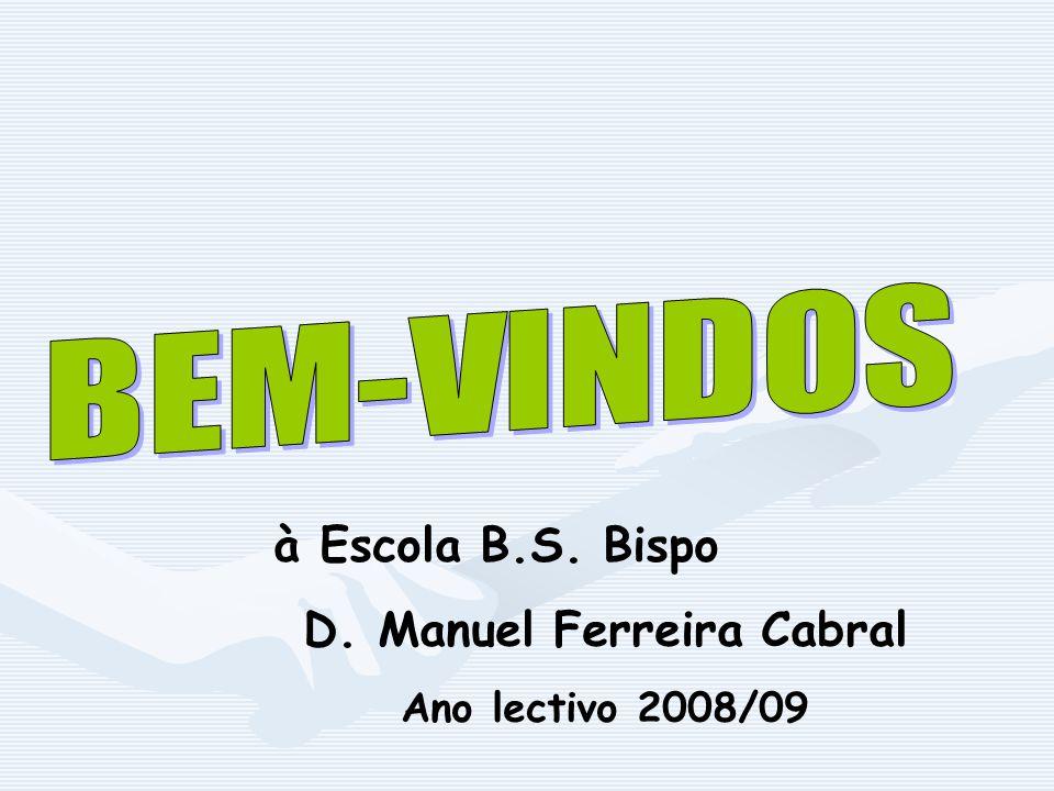 à Escola B.S. Bispo D. Manuel Ferreira Cabral Ano lectivo 2008/09
