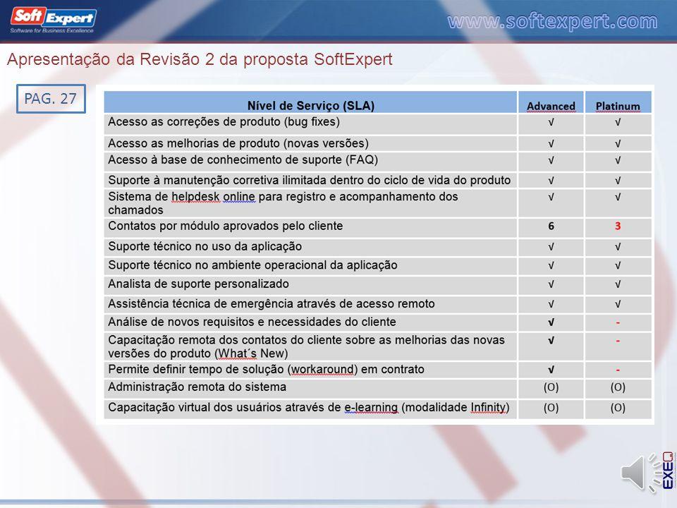 Apresentação da Revisão 2 da proposta SoftExpert PAG. 8