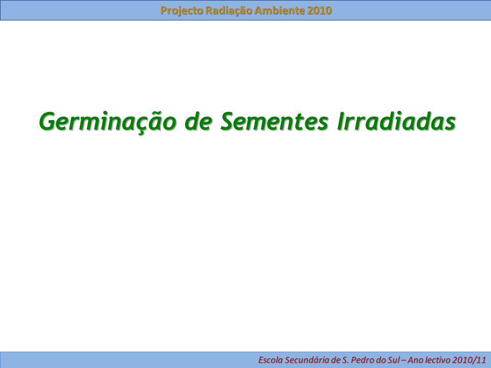 Germinação de Sementes Irradiadas Projecto Radiação Ambiente 2010 Escola Secundária de S.