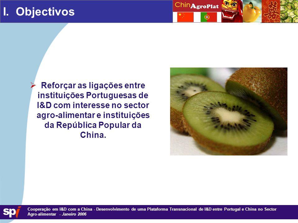 1,6/1,6 cm Cooperação em I&D com a China - Desenvolvimento de uma Plataforma Transnacional de I&D entre Portugal e China no Sector Agro-alimentar - Janeiro 2006 I.