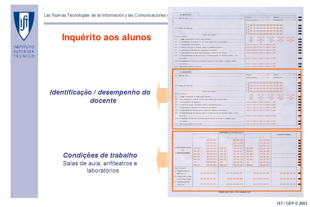 Las Nuevas Tecnologías de la Información y las Comunicaciones (NTIC's) y el Mejoramiento de la Calidad de la Docencia Universitaria IST / GEP © 2003 I