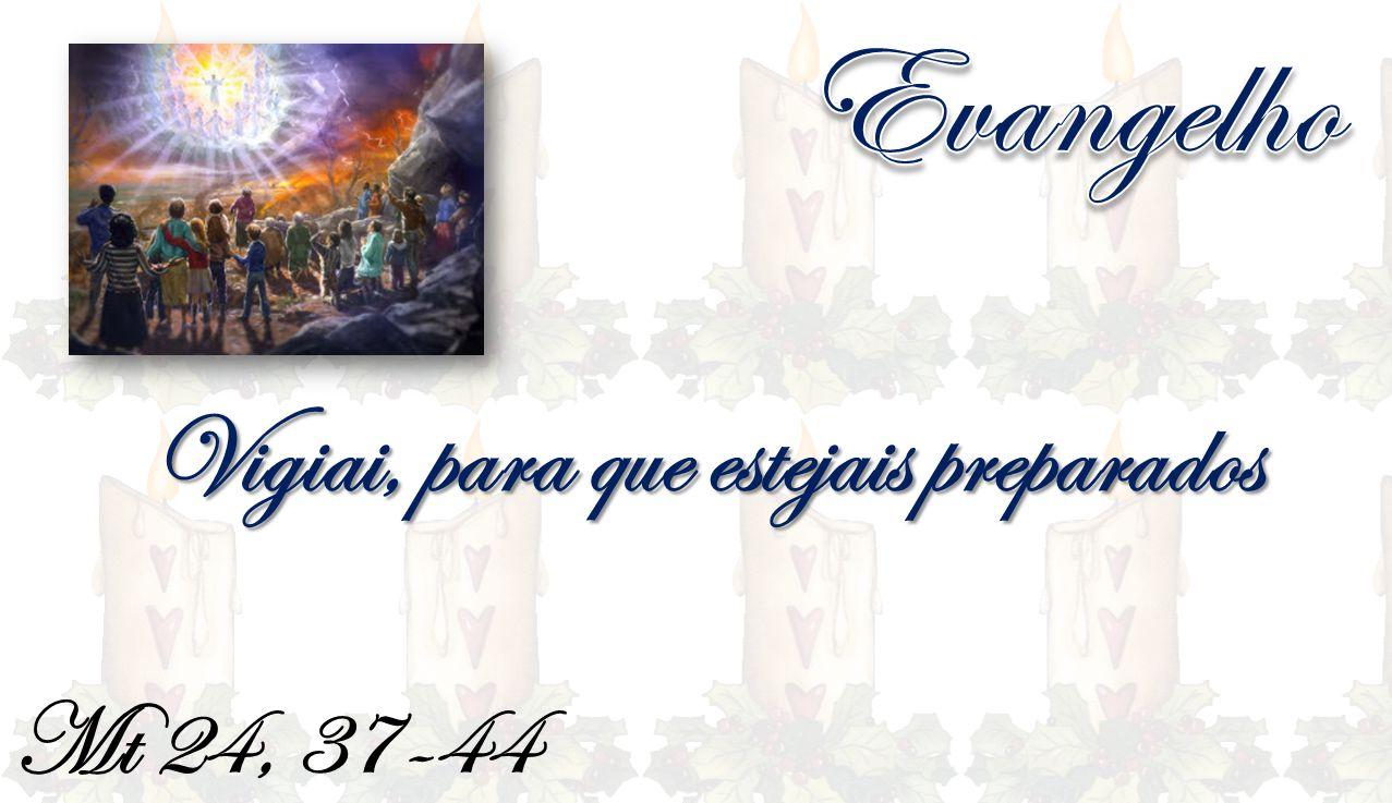 Mt 24, 37-44 Vigiai, para que estejais preparados