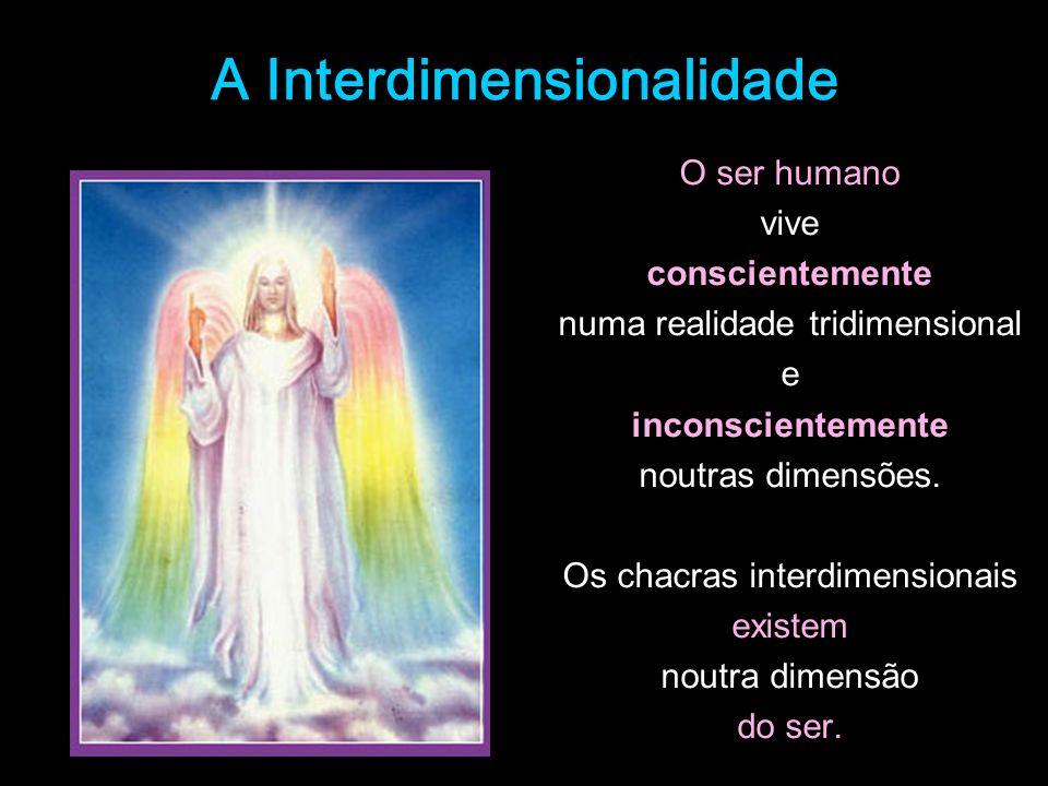 A Interdimensionalidade O ser humano vive conscientemente numa realidade tridimensional e inconscientemente noutras dimensões. Os chacras interdimensi