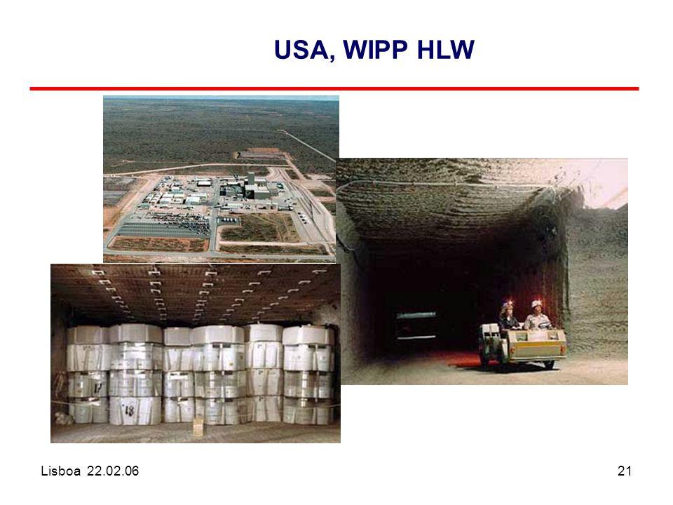 Lisboa 22.02.0621 USA, WIPP HLW