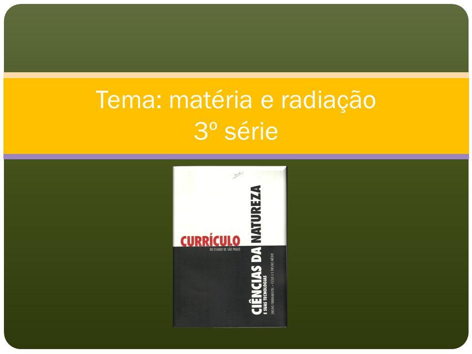 Tema: matéria e radiação 3º série