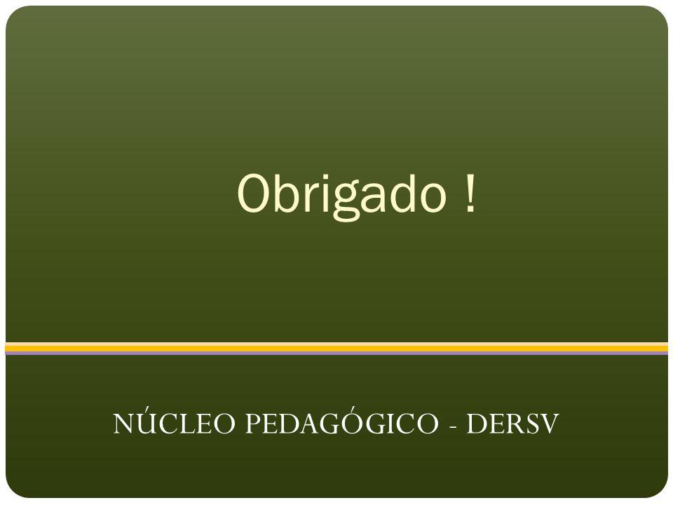 Obrigado ! NÚCLEO PEDAGÓGICO - DERSV