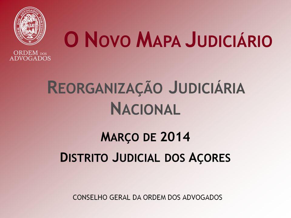 INSTÂNCIAS LOCAIS | SECÇÕES DE COMPETÊNCIA GENÉRICA C OMARCA DOS A ÇORES Nº de HabitantesNº de Juízes Municípios Competências Tribunal HORTA Genérica Horta 114.994
