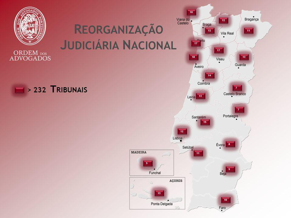 R EORGANIZAÇÃO J UDICIÁRIA N ACIONAL > 232 T RIBUNAIS 10 12 17 18 12 11 17 12 7 7 14 15 7 7 8 8 11 9 9 10 5 5 13