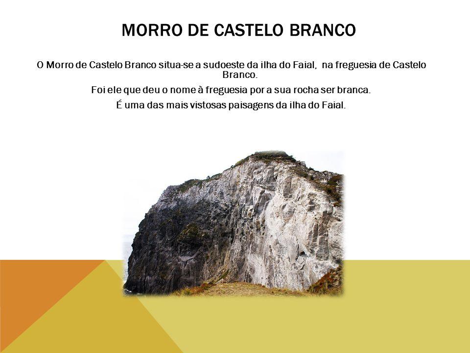 MORRO DE CASTELO BRANCO O Morro de Castelo Branco situa-se a sudoeste da ilha do Faial, na freguesia de Castelo Branco. Foi ele que deu o nome à fregu