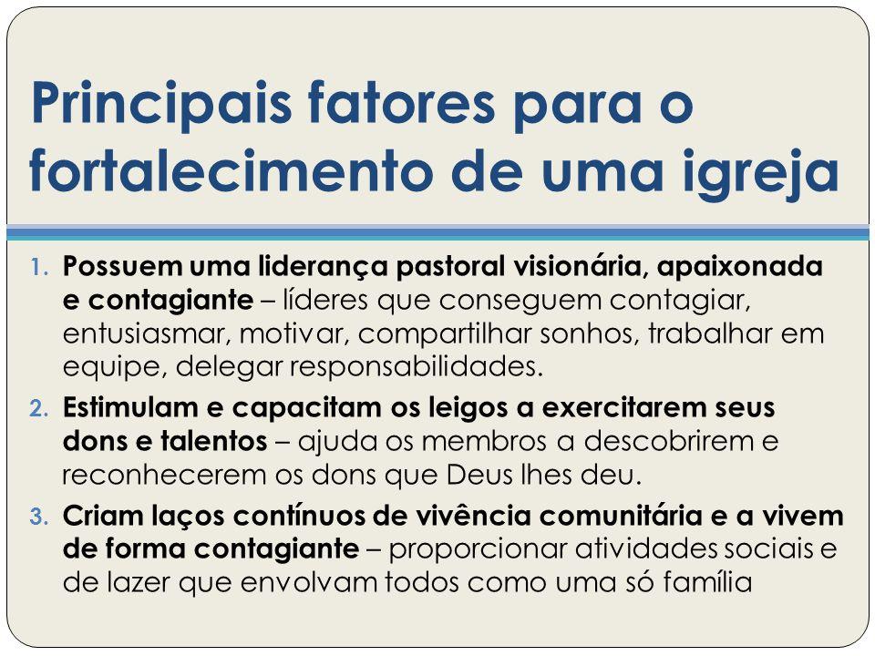Principais fatores para o fortalecimento de uma igreja 1.