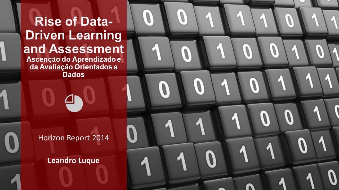 Rise of Data- Driven Learning and Assessment Ascenção do Aprendizado e da Avaliação Orientados a Dados Horizon Report 2014 Leandro Luque