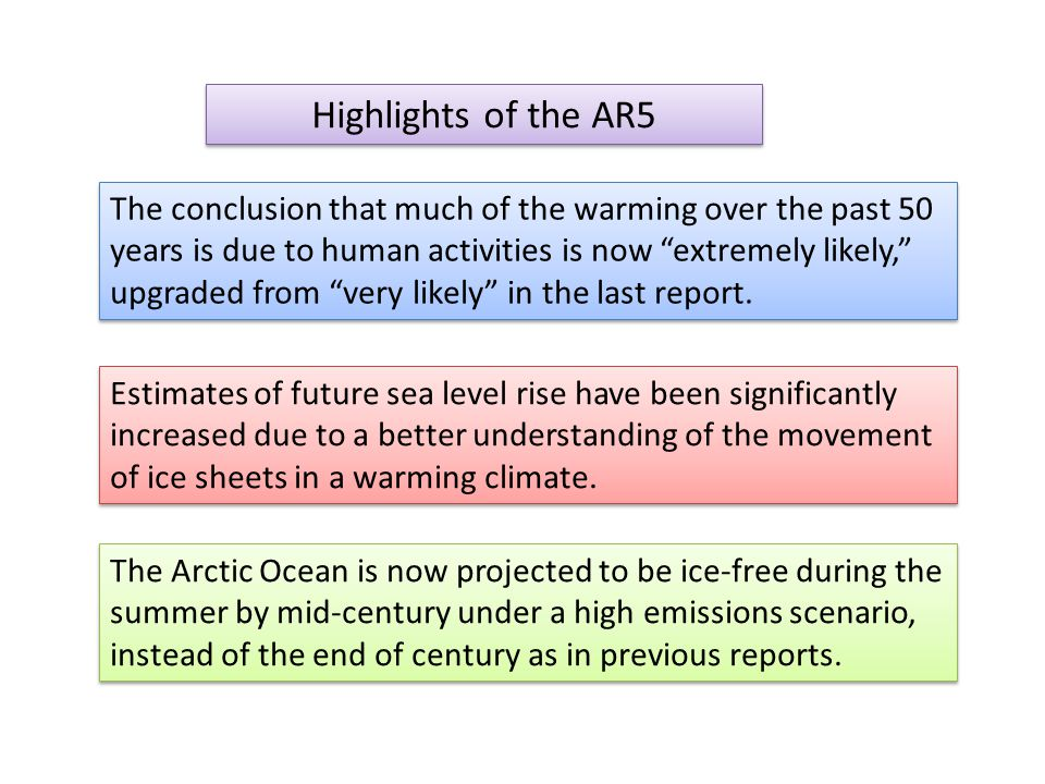 The Arctic Ocean is now projected to be ice-free during the summer by mid-century under a high emissions scenario, instead of the end of century as in previous reports.