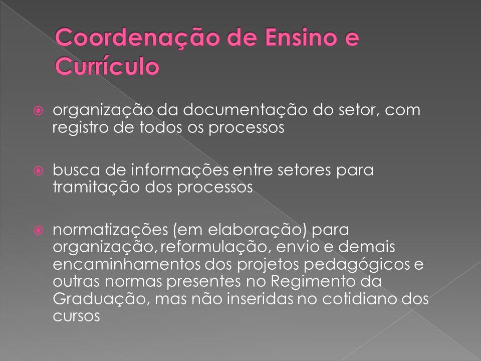  organização da documentação do setor, com registro de todos os processos  busca de informações entre setores para tramitação dos processos  normat