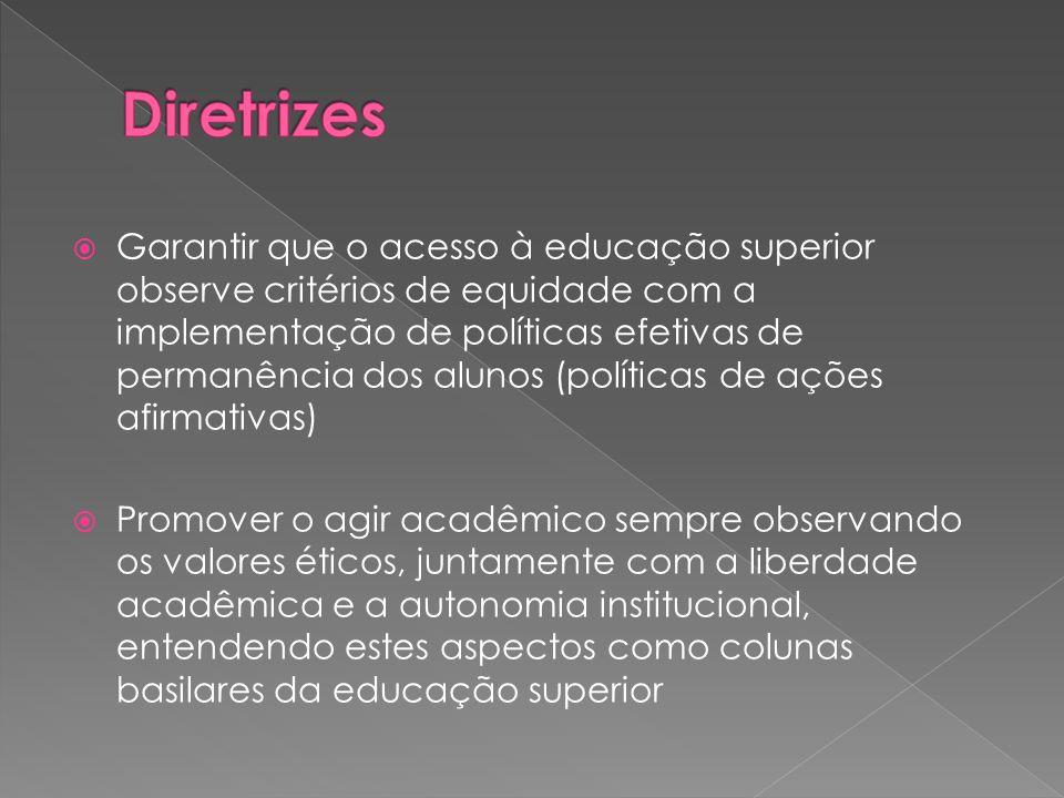  Garantir que o acesso à educação superior observe critérios de equidade com a implementação de políticas efetivas de permanência dos alunos (polític