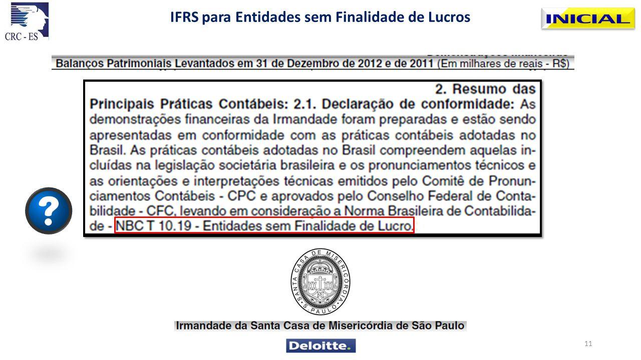 IFRS para Entidades sem Finalidade de Lucros 11