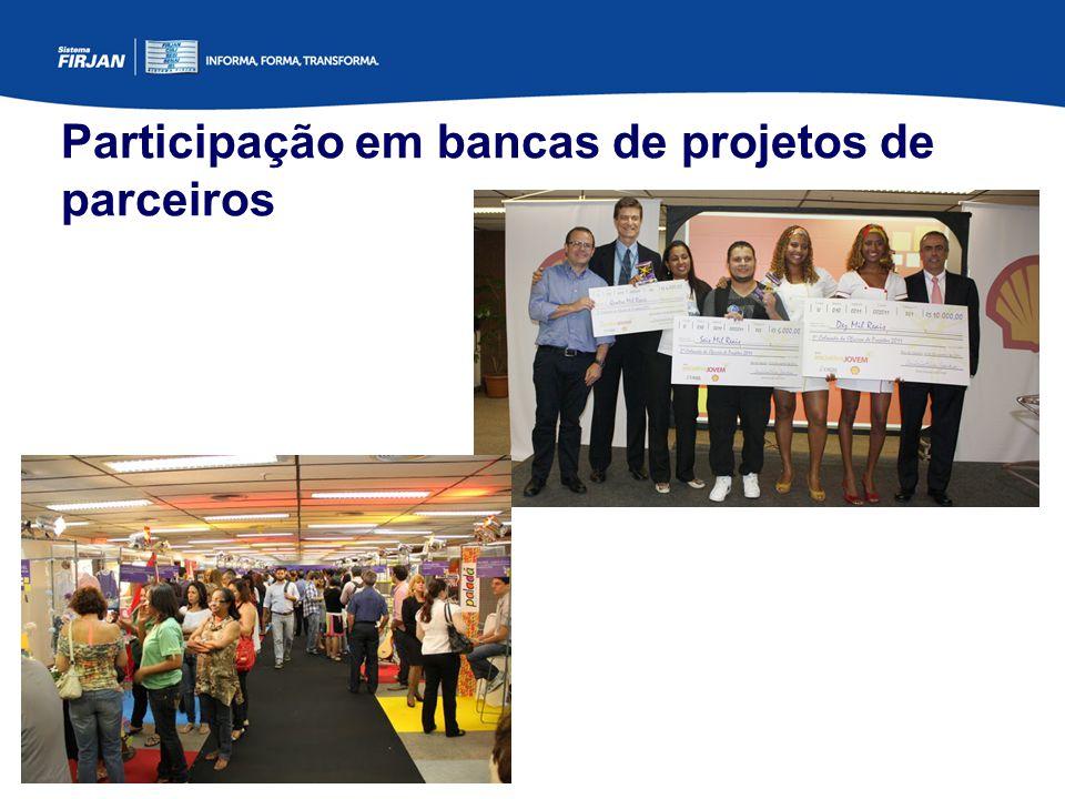 Participação em bancas de projetos de parceiros