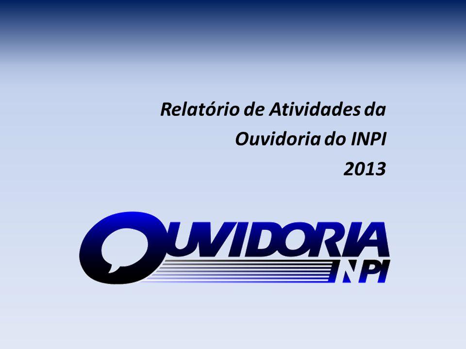 Relatório de Atividades da Ouvidoria do INPI 2013