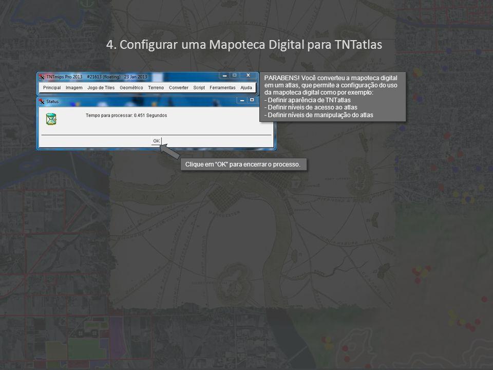 4. Configurar uma Mapoteca Digital para TNTatlas PARABENS.