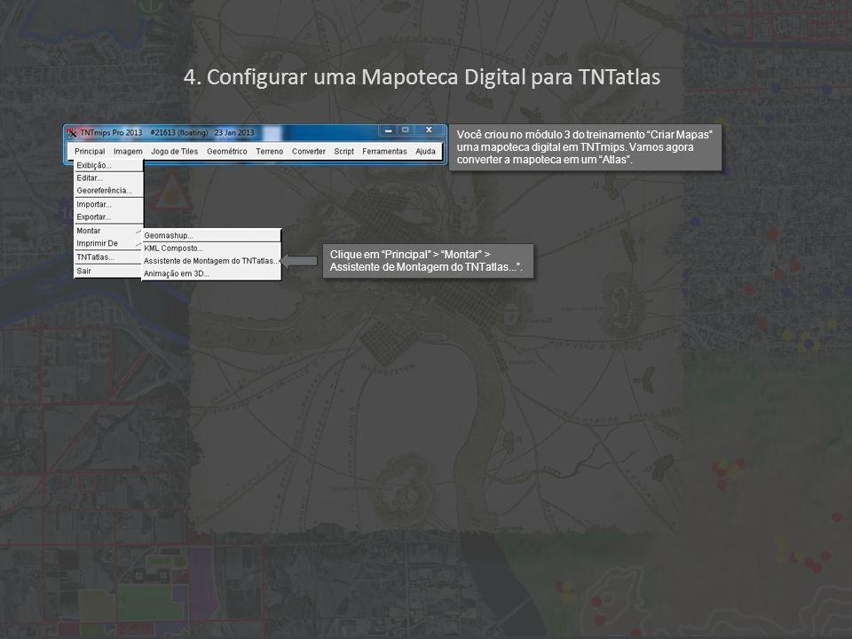 Clique em Próximo . 4. Configurar uma Mapoteca Digital para TNTatlas