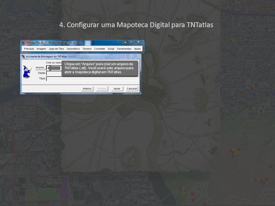 Clique em Arquivo para criar um arquivo de TNTatlas (.atl).