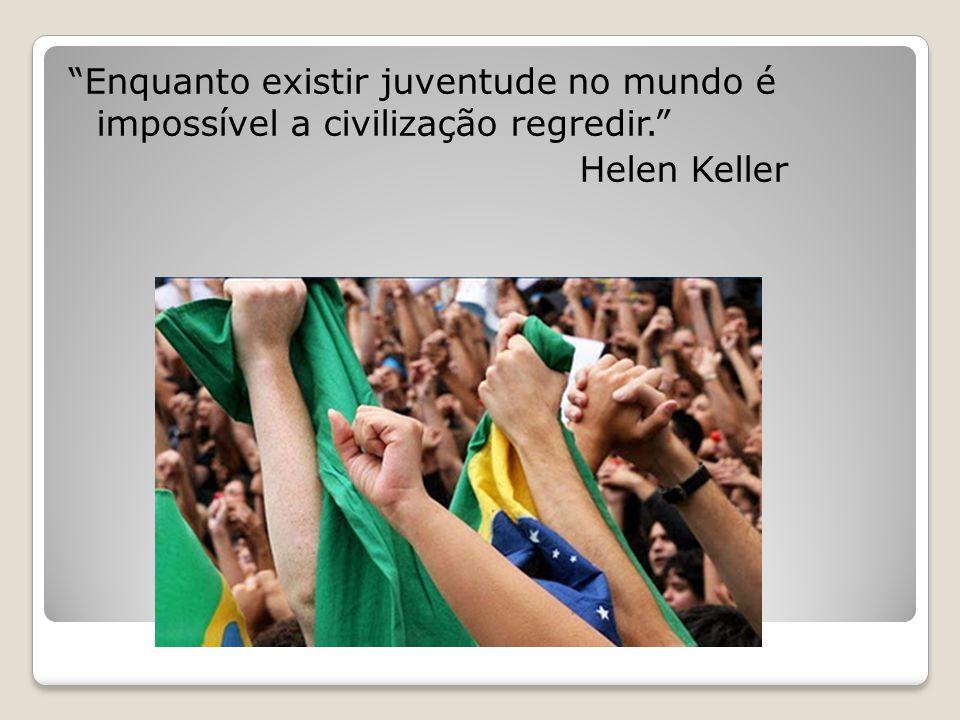 """""""Enquanto existir juventude no mundo é impossível a civilização regredir."""" Helen Keller"""