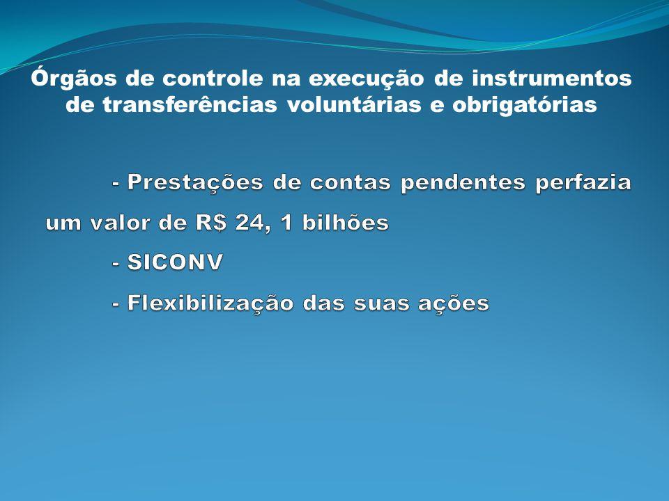 Órgãos de controle na execução de instrumentos de transferências voluntárias e obrigatórias