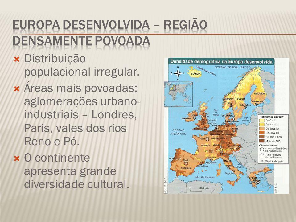  Distribuição populacional irregular.