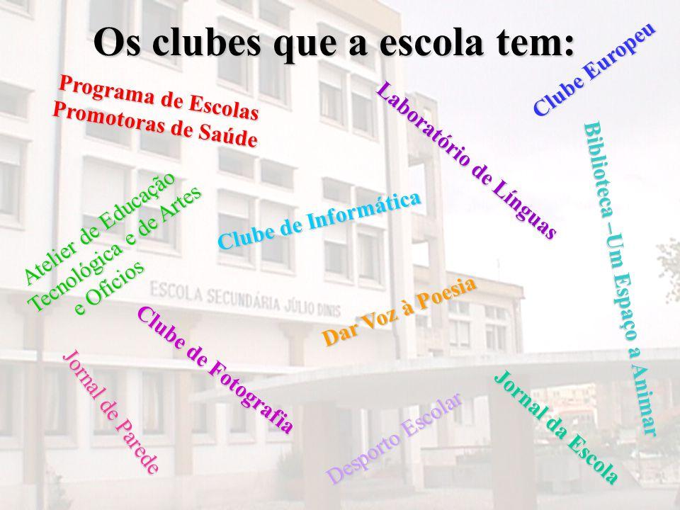 Os clubes que a escola tem: Programa de Escolas Promotoras de Saúde Programa de Escolas Promotoras de Saúde Desporto Escolar Desporto Escolar Clube Eu