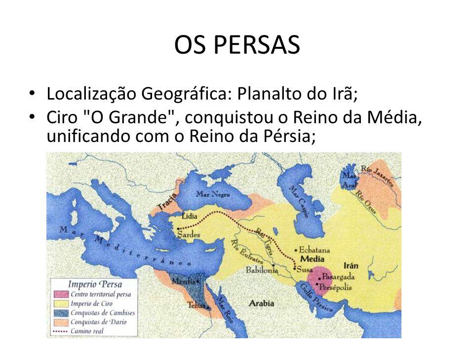 OS PERSAS Localização Geográfica: Planalto do Irã; Ciro