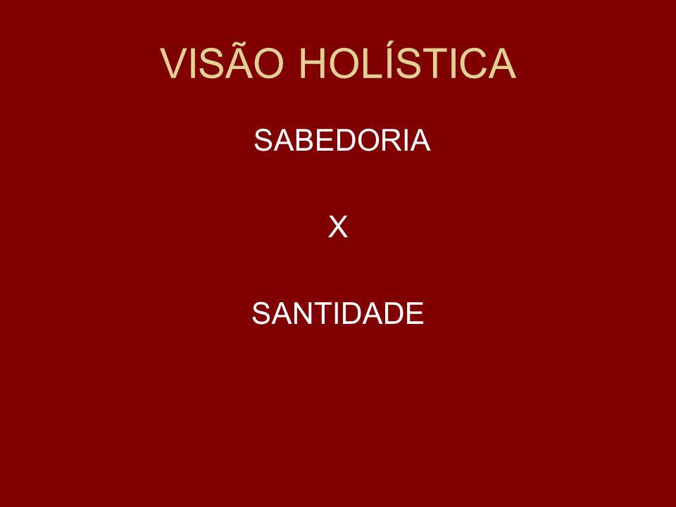 VISÃO HOLÍSTICA SABEDORIA X SANTIDADE
