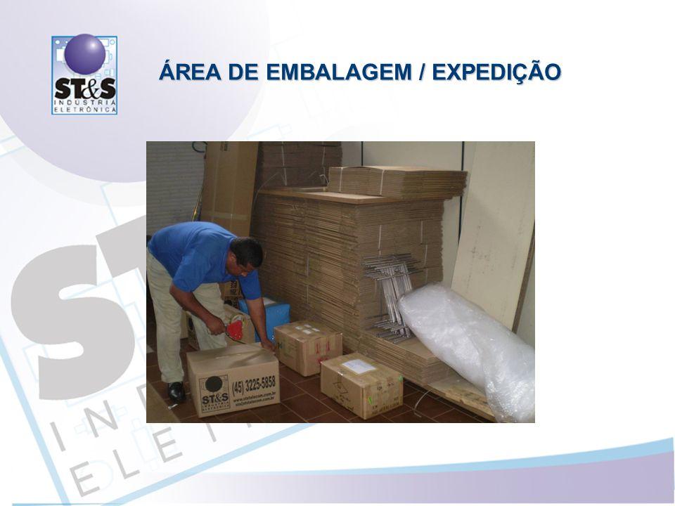 ÁREA DE EMBALAGEM / EXPEDIÇÃO