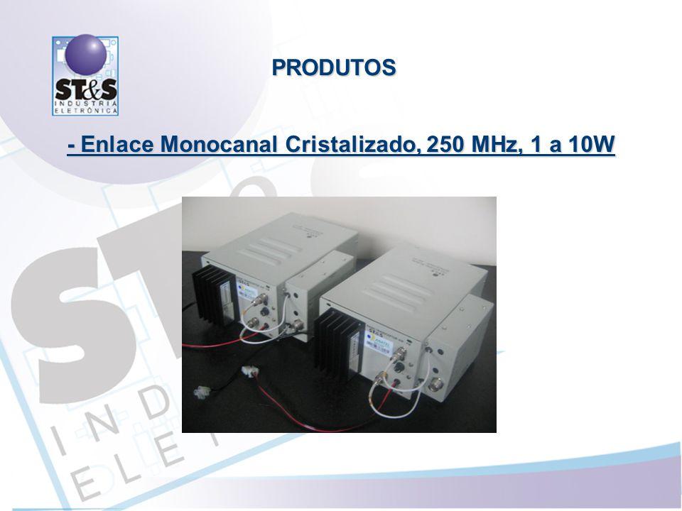 - Enlace Monocanal Cristalizado, 250 MHz, 1 a 10W PRODUTOS