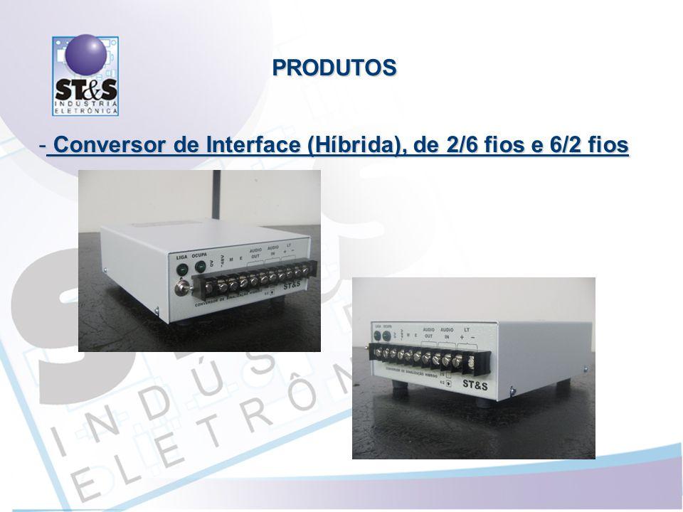 - Conversor de Interface (Híbrida), de 2/6 fios e 6/2 fios PRODUTOS