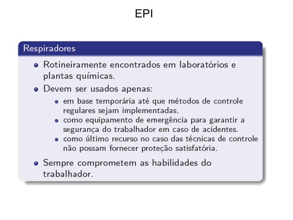 EPI é a última opção! Não a primeira! NR-9