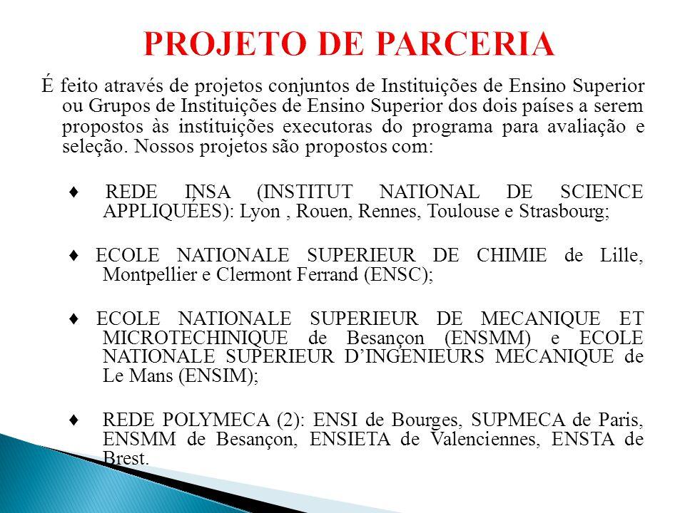 É feito através de projetos conjuntos de Instituições de Ensino Superior ou Grupos de Instituições de Ensino Superior dos dois países a serem proposto