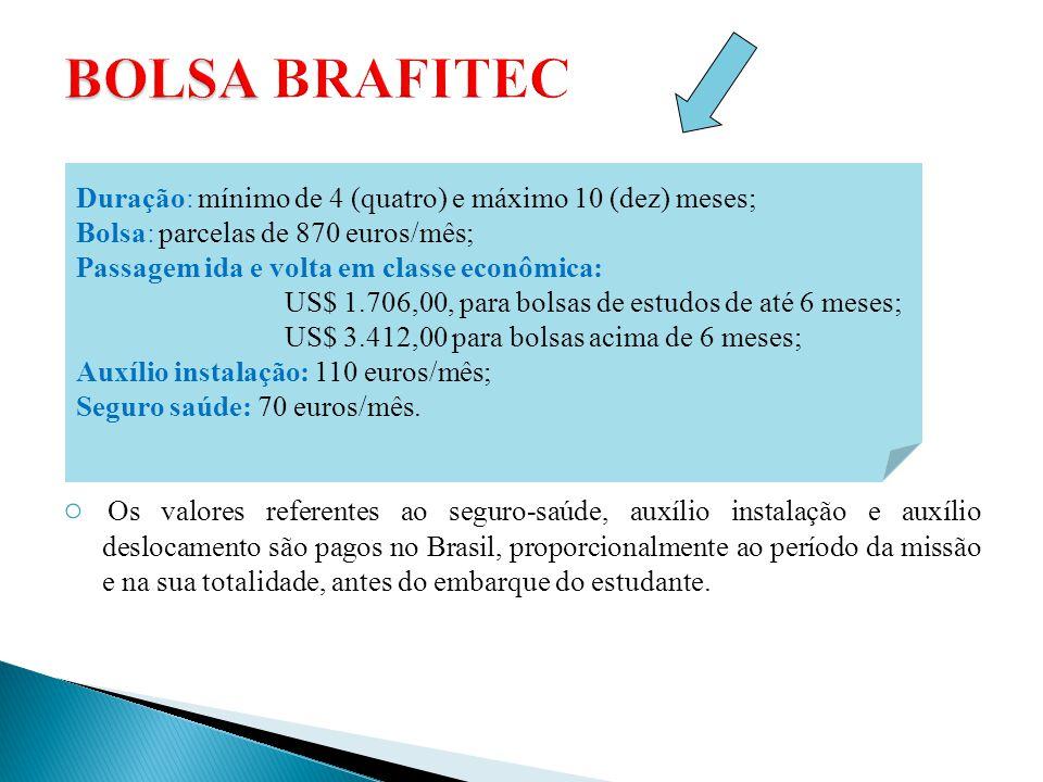 ○ Os valores referentes ao seguro-saúde, auxílio instalação e auxílio deslocamento são pagos no Brasil, proporcionalmente ao período da missão e na su