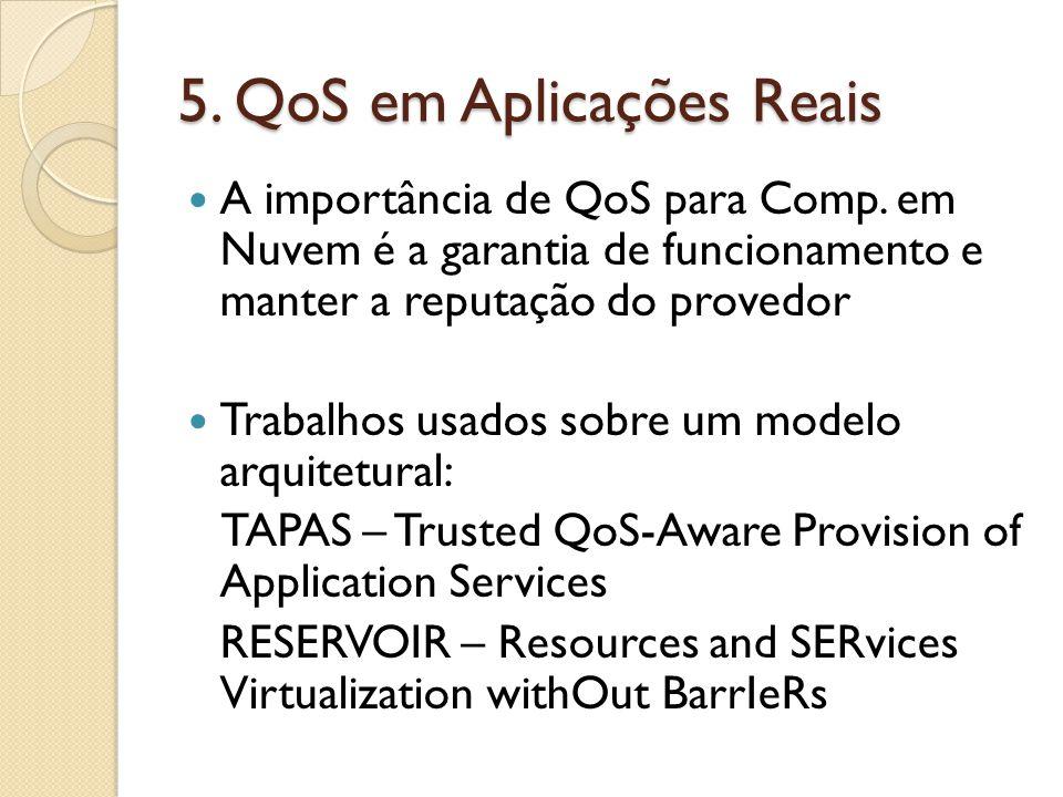 5. QoS em Aplicações Reais A importância de QoS para Comp.