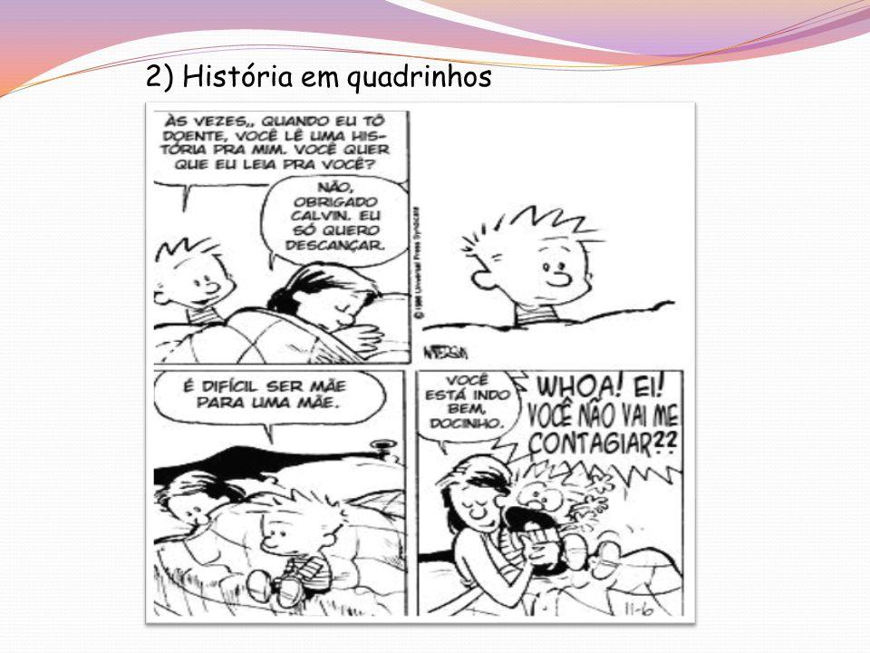 2) História em quadrinhos