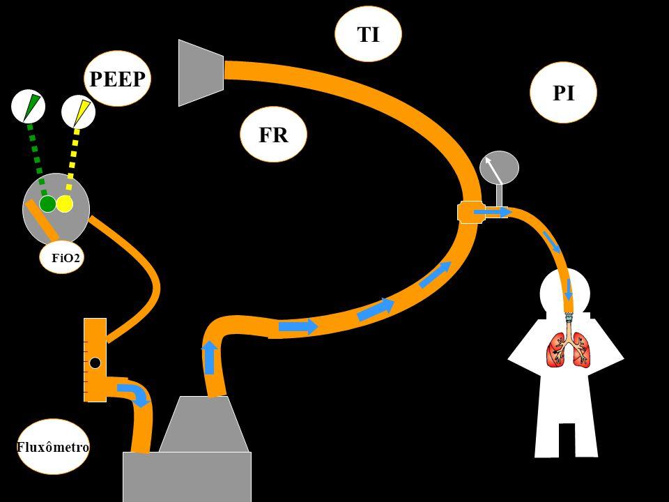 ______________ FiO2 PEEP PI Fluxômetro FR TI