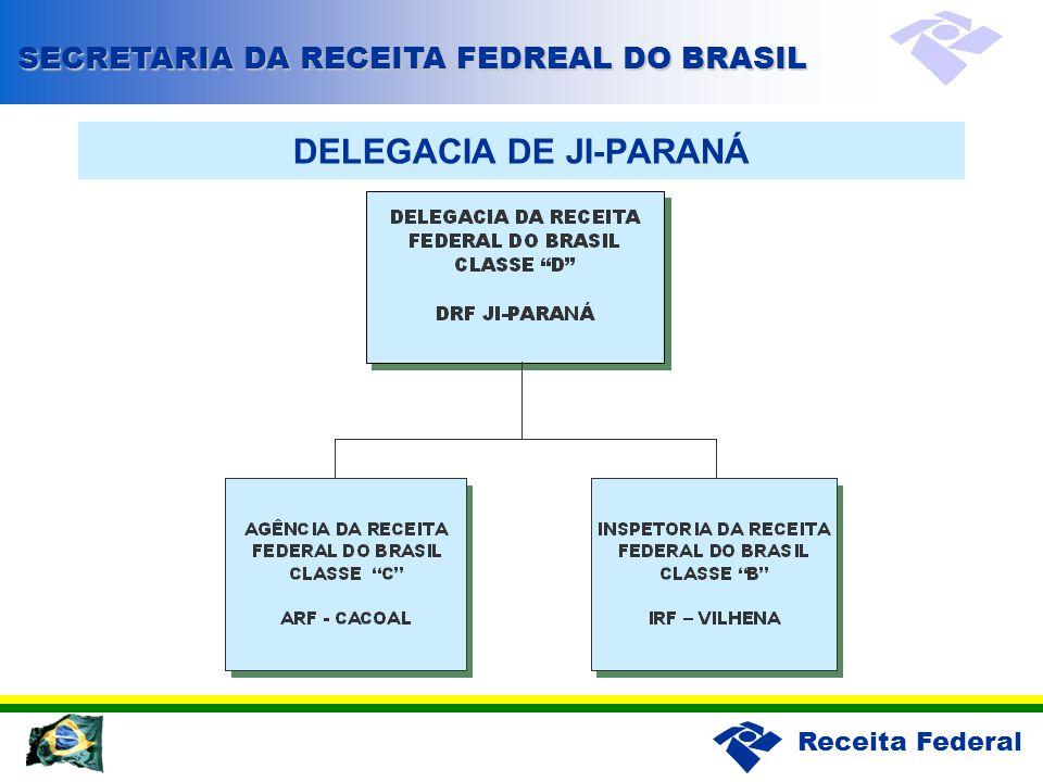Receita Federal DELEGACIA DE JI-PARANÁ SECRETARIA DA RECEITA FEDREAL DO BRASIL