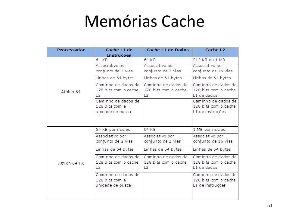 Memórias Cache 51
