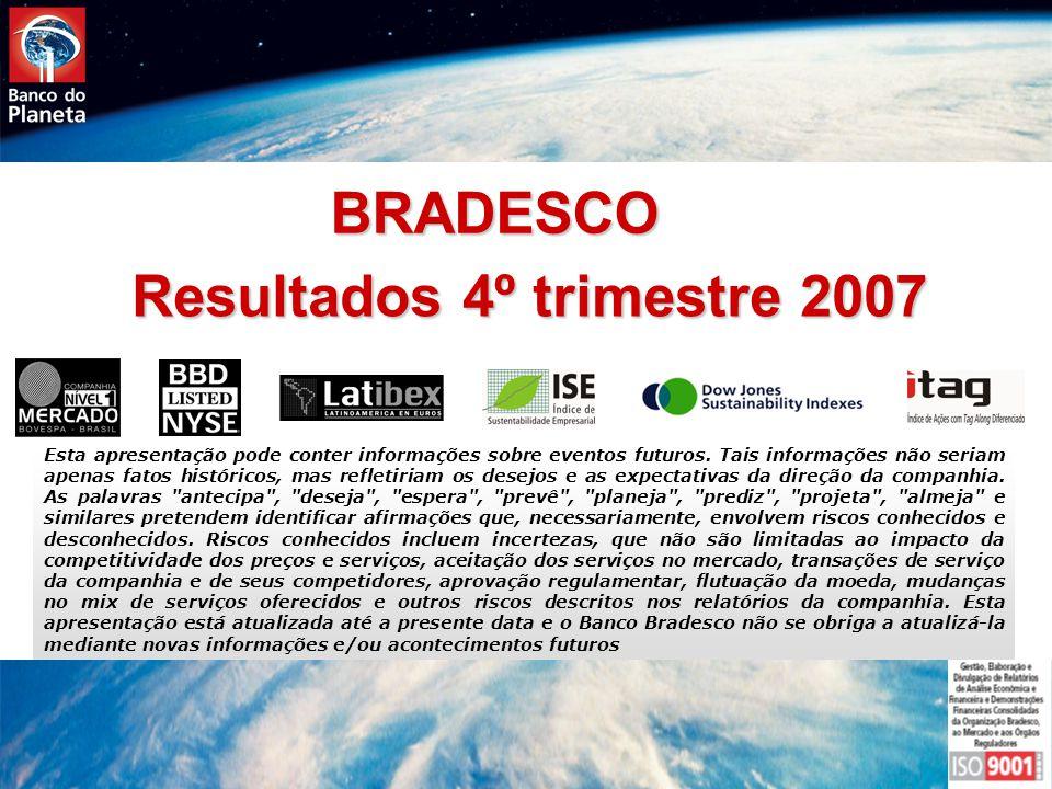 Relacões com o Mercado Resultados 4º trimestre 2007 Esta apresentação pode conter informações sobre eventos futuros.