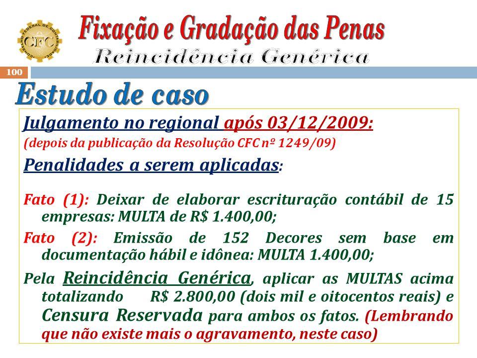 99 Ocorrência : Auto de Infração de 14/01/2009 Fato (1): Deixar de elaborar a escrituração contábil de 15 empresas sob sua responsabilidade profission