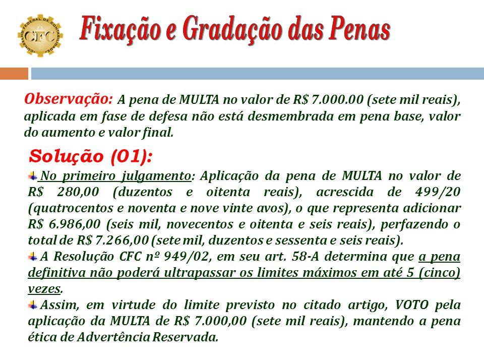 """Pela aplicação das penas de: MULTA no valor de R$ 7.000,00 (sete mil reais), com base legal prevista no artigo 27, letra """"c"""", do Decreto-lei 9295/46,"""