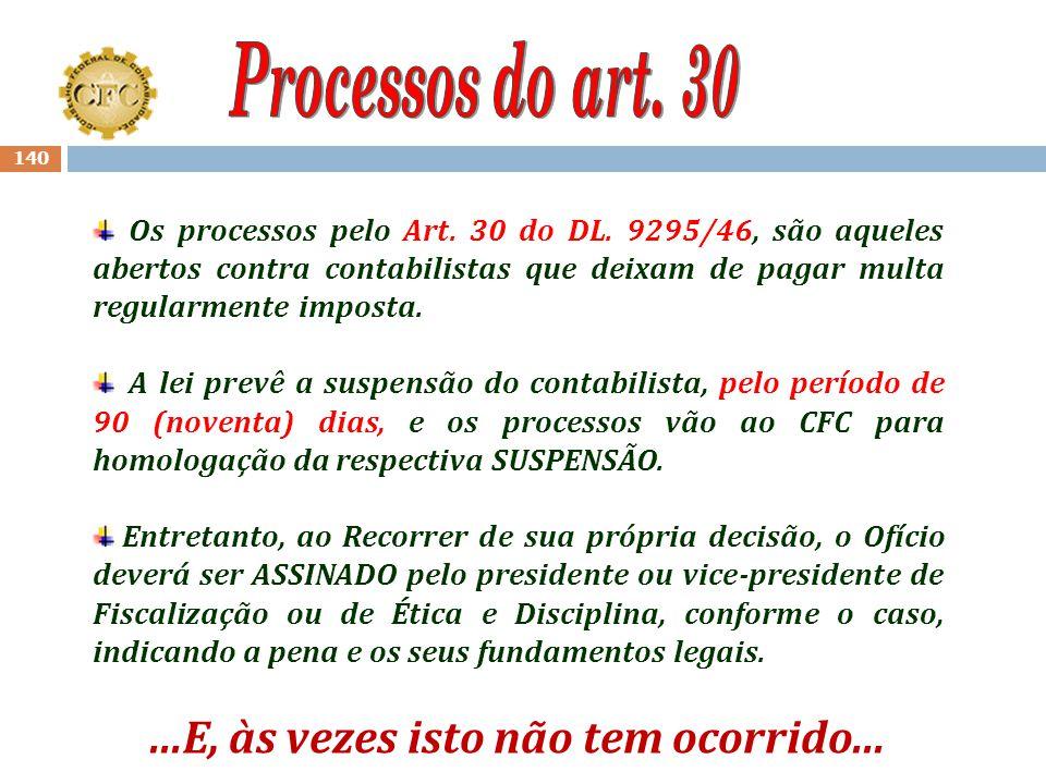 139 As penas de Suspensão do exercício profissional, até então, não eram aplicadas aos profissionais que estivessem com o registro cadastral baixado;