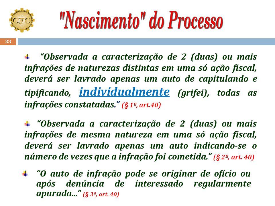 """32 O processo de fiscalização inicia-se com a lavratura do Auto de Infração... (art. 39)... que """"é o documento hábil para a autuação e a descrição de"""