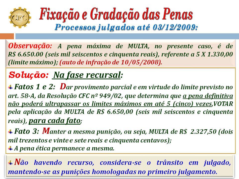 Estudo de caso: Primário Fato 1: Pena base: MULTA de R$ 266,00; Agravamento: 649/20 no valor de R$ 8.631,70, totalizando R$ 8.897,70; Fato 2: Pena bas