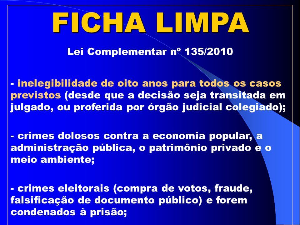 FICHA LIMPA Segundo o Presidente do TSE, Ministro Ricardo Lewandowski, a origem da expressão 'Ficha Limpa' remete à Roma Antiga.